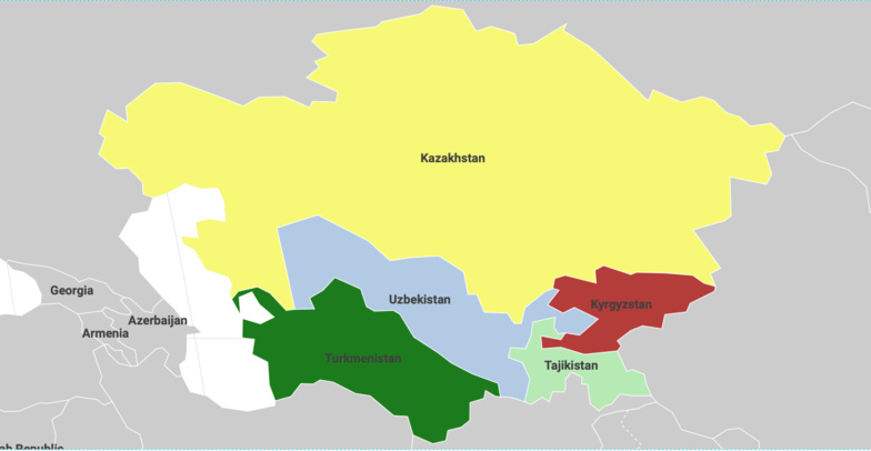 Asie centrale :  Cinq États et des trajectoires différentes