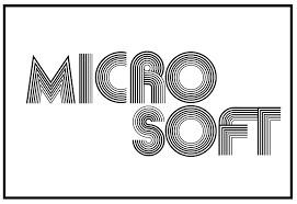 Logotype de l'entreprise Microsoft en 1978