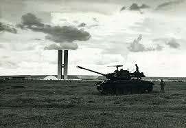 Coup d'Etat de 1964 : char déployé à Brasilia, la nouvelle capitale