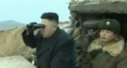 """Kim Jong-Un en inspection sur la """"ligne de front"""""""
