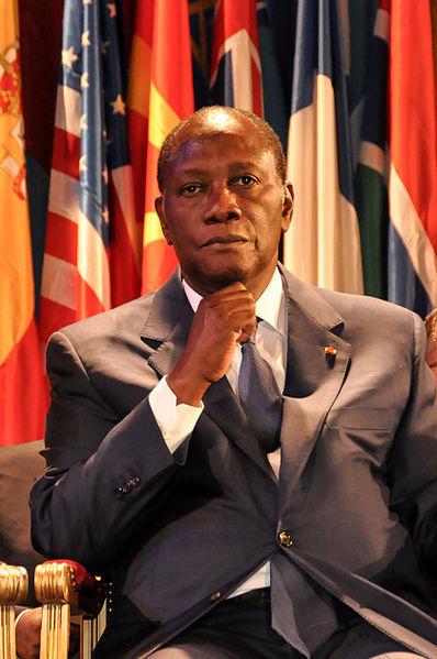 Alassane Ouattara à l'UNESCO en septembre 2011