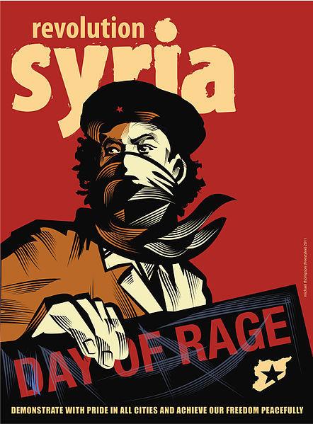 Une affiche réalisée par l'opposition syrienne dans le cadre d'une campagne de communication sur Facebook
