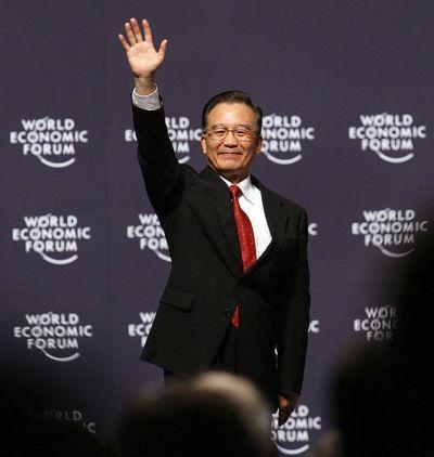 Le Premier Ministre chinois Wen Jiabao au  World Economic Forum de 2007