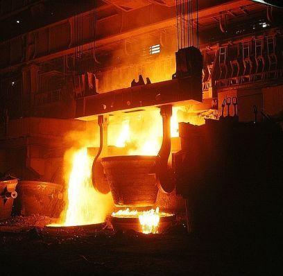 Cent années de production d'acier