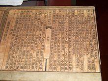Bloc d'impression en bois, Yangzhou Museum