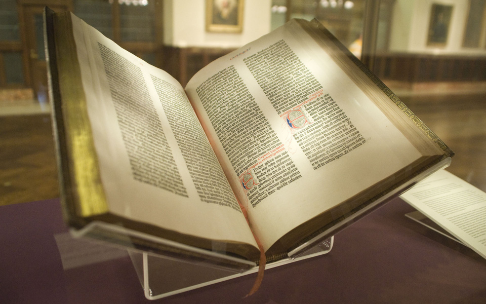 La Bible de Gutenberg, NY Public Library