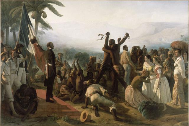 François-Auguste Biard (1799–1882) L'abolition de l'esclavage dans les colonies françaises