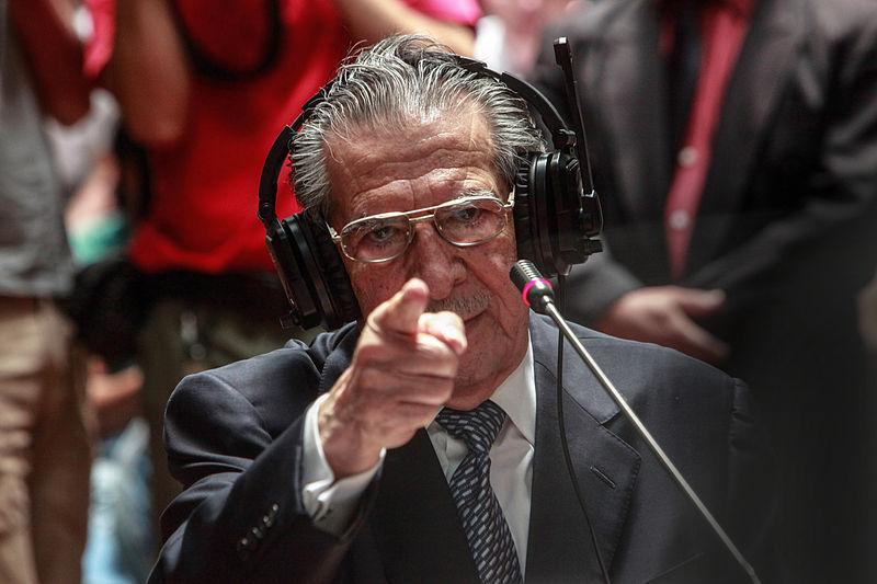 L'ex-général Rios Montt témoignant à son procès
