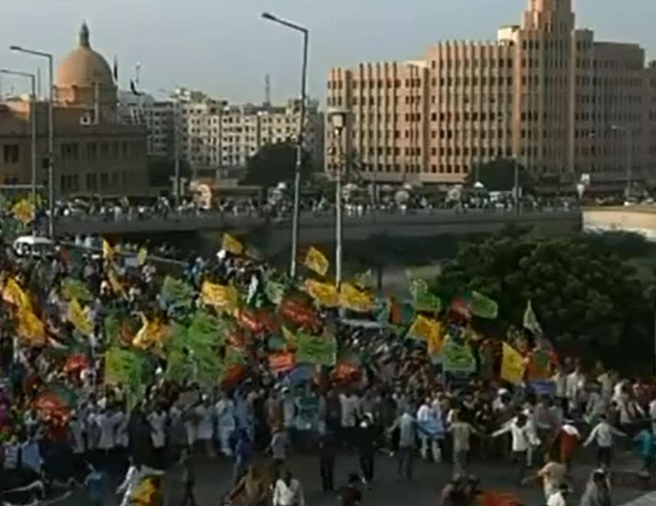 Manifestation anti-chrétienne à Karachi