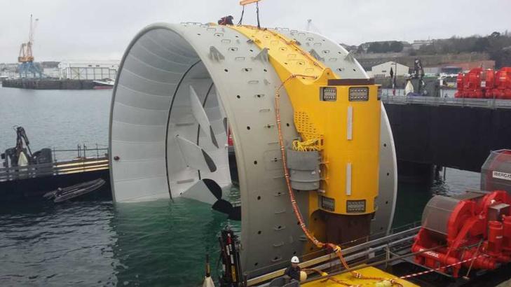 Turbine hydrolienne de DCNS-EDF