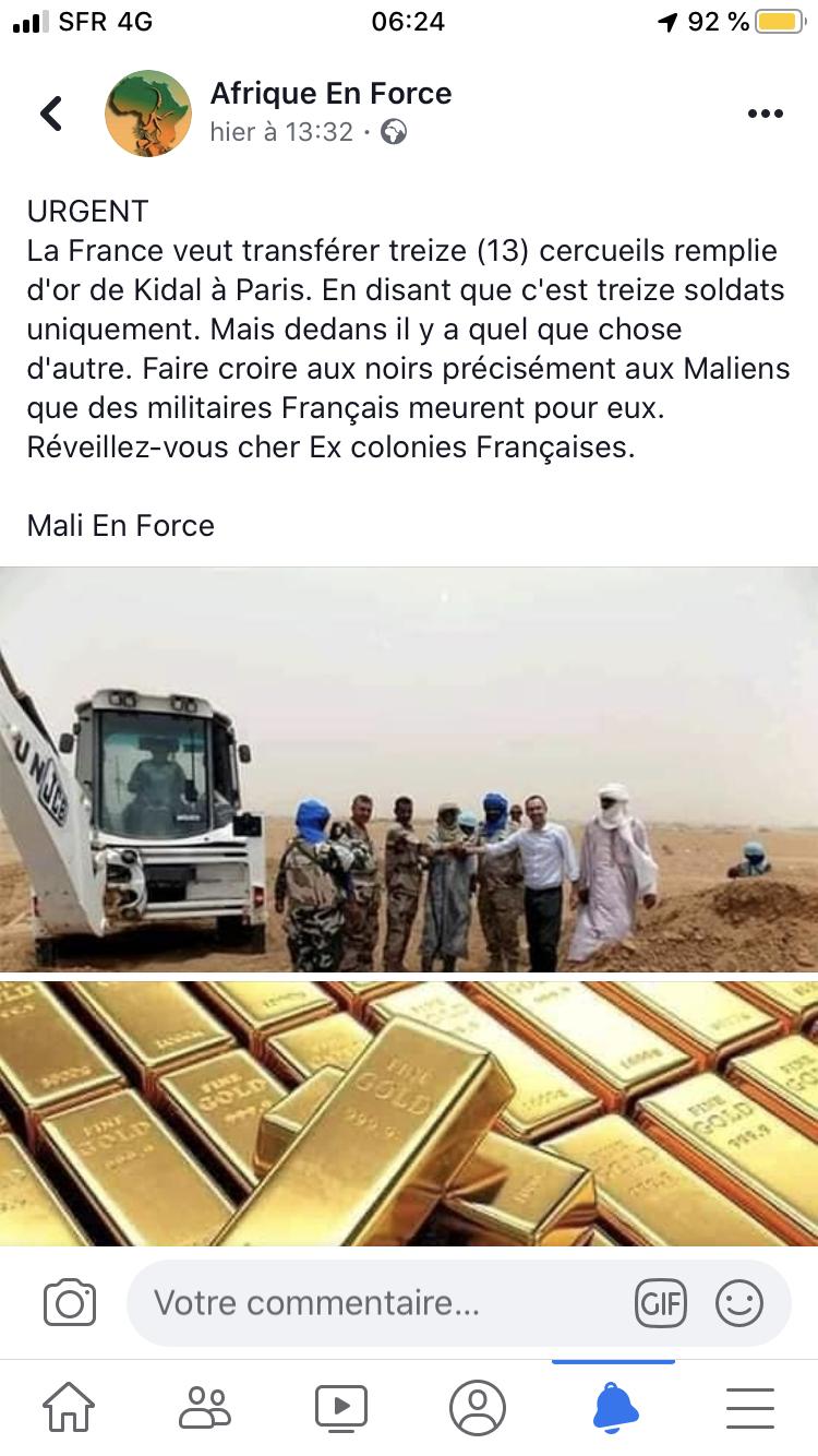 Mali : l'armée française victime de fake news sur les réseaux sociaux