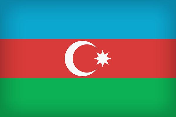 Le drapeau national de l'Azerbaïdjan, adopté de 1918 à 1920, puis de nouveau en 1991.