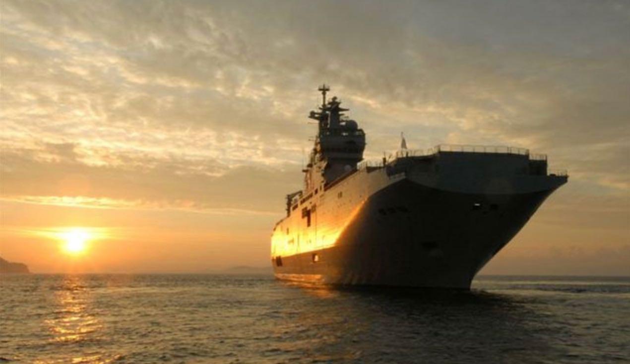 Le PHA Tonnerre a appareillé de Toulon pour Beyrouth (crédit : Ministère des Armées)