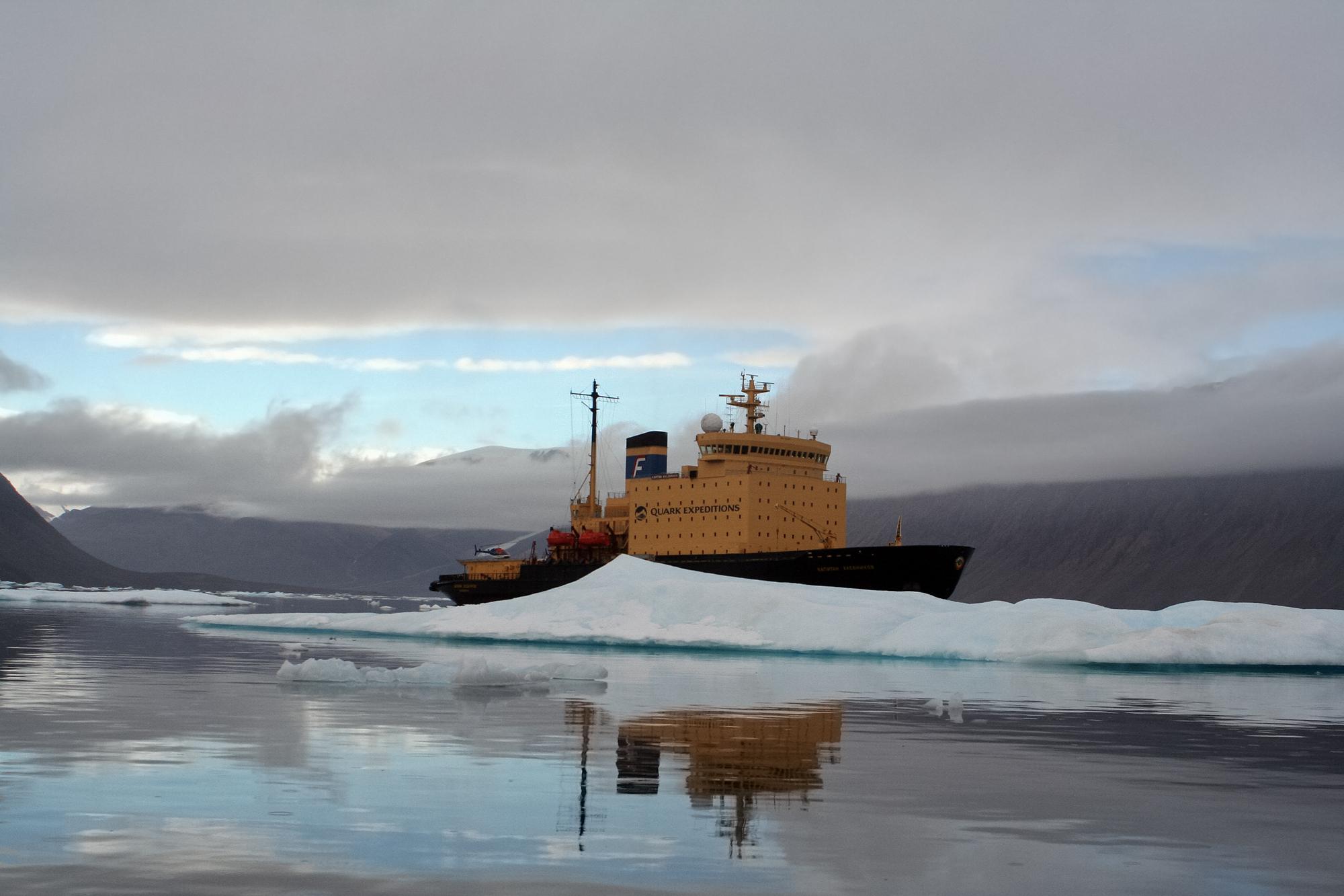 Le brise-glace Kapitan Khlebnikov en Arctique (Licence Creative Commons)