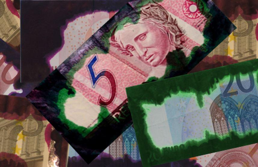 Pour lutter contre le vol : la maculage des billets (photo : Oberthur Cash Protection)